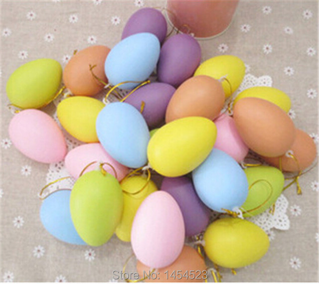 100pcslot plastic easter eggs decoration 6x42cm happy easter day 100pcslot plastic easter eggs decoration 6x42cm happy easter day egg diy easter negle Image collections