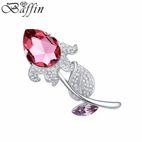 Wholesale women Brooch flower Brooches for women made with Swarovski Elements Crystal from Swarovski