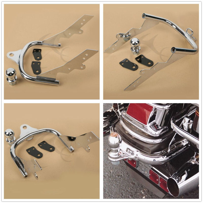 Motorcycle Chrome Trailer Hitch For Harley Touring Road King Tour Glide Electra Glide Ultra Classic Road Glide 1994-2008Motorcycle Chrome Trailer Hitch For Harley Touring Road King Tour Glide Electra Glide Ultra Classic Road Glide 1994-2008