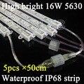 5pcs/lot 50cm led rigid strip waterproof IP68 LED strip DC12V bar light 36PCS 5630 chip/50cm outdoor use strip,led lighting box