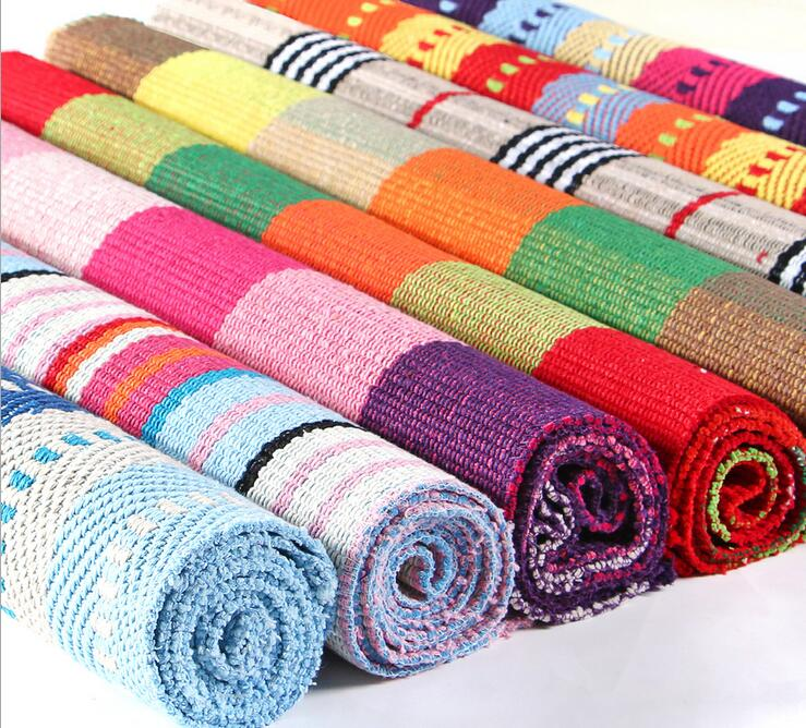 Cotton Rugs Washable Home Decor
