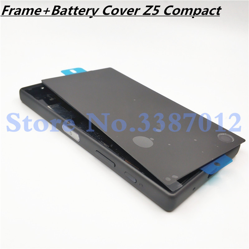 Original Full Housing LCD Panel Middle Frame For Sony Xperia Z5 Compact E5803 E5823 Battery Door Cover Side Button With Logo