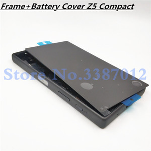 Image 1 - Original Full Housing LCD Panel Middle Frame For Sony Xperia Z5 Compact E5803 E5823 Battery door Cover Side Button With Logo