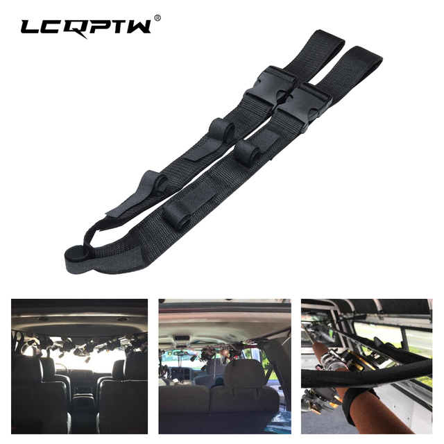 1 PCS Car Fishing Rod Carrier Rod Holder Belt Strap With Tie Suspenders Wrap 5 Roads dropshipping