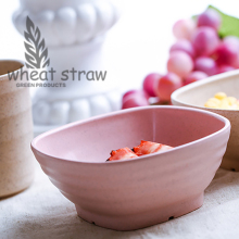 hot 2017 new assorted Salad rice noodle bowl cup children home kitchen tableware wheat straw fruit soup vegetable bowl bottle