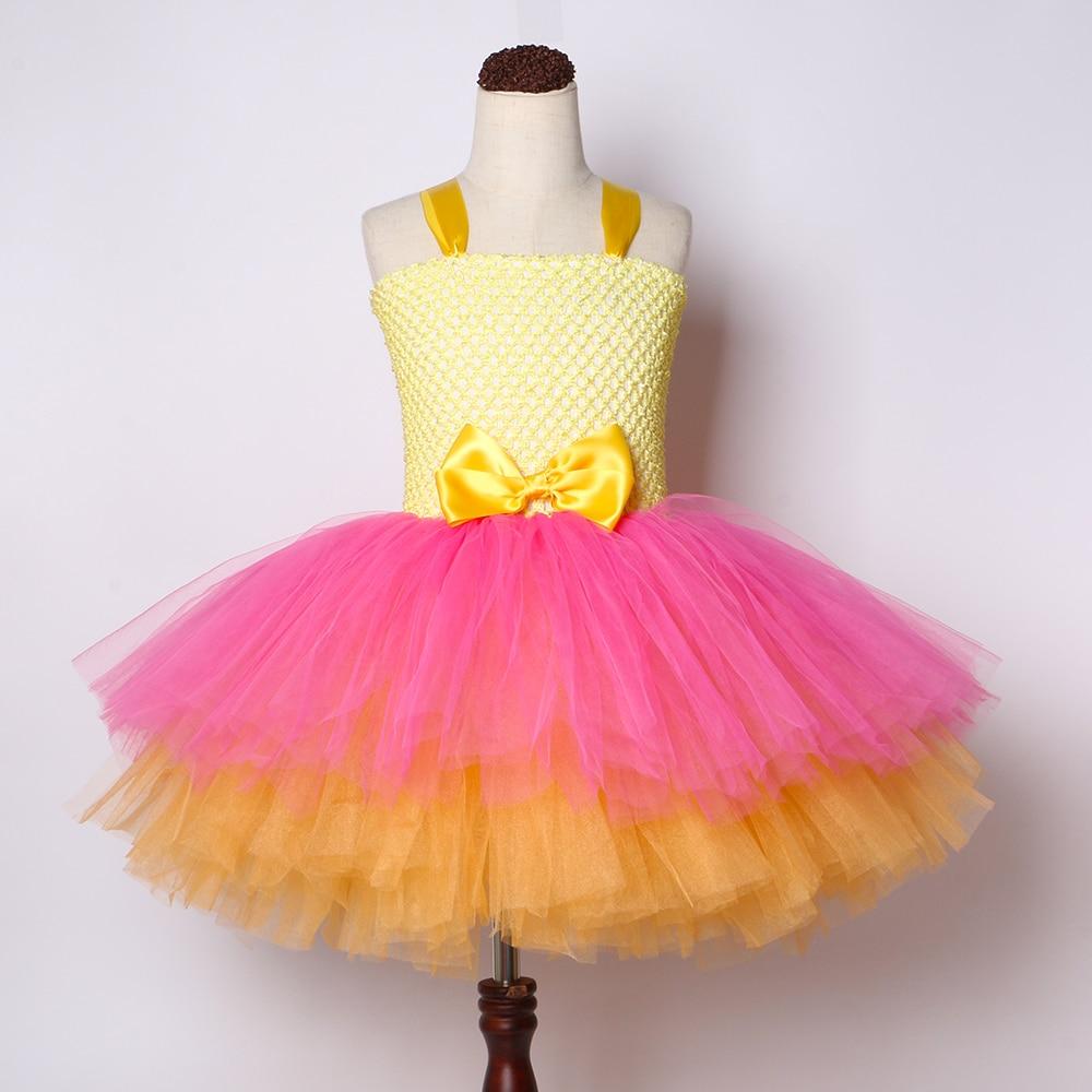 Image 4 - Girls Lol Tutu Dress Cute Princess Cartoon Doll Girl Birthday Party Dress for Kids Girl Christmas Halloween Lol Cosplay CostumeDresses   -