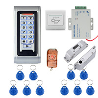 Door Access Control System Controller Waterproof Metal Case RFID Reader Keypad Remote Control Electric Drop Bolt Lock