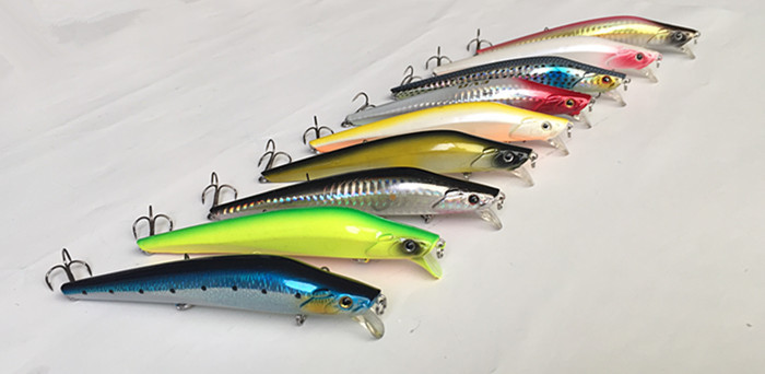 Fishing Lure Minnow Bait Fishing Tackle Plastic Lure Slender Shape Lure Casting Spinner bait Sea Lure 12cm 19g or 21g