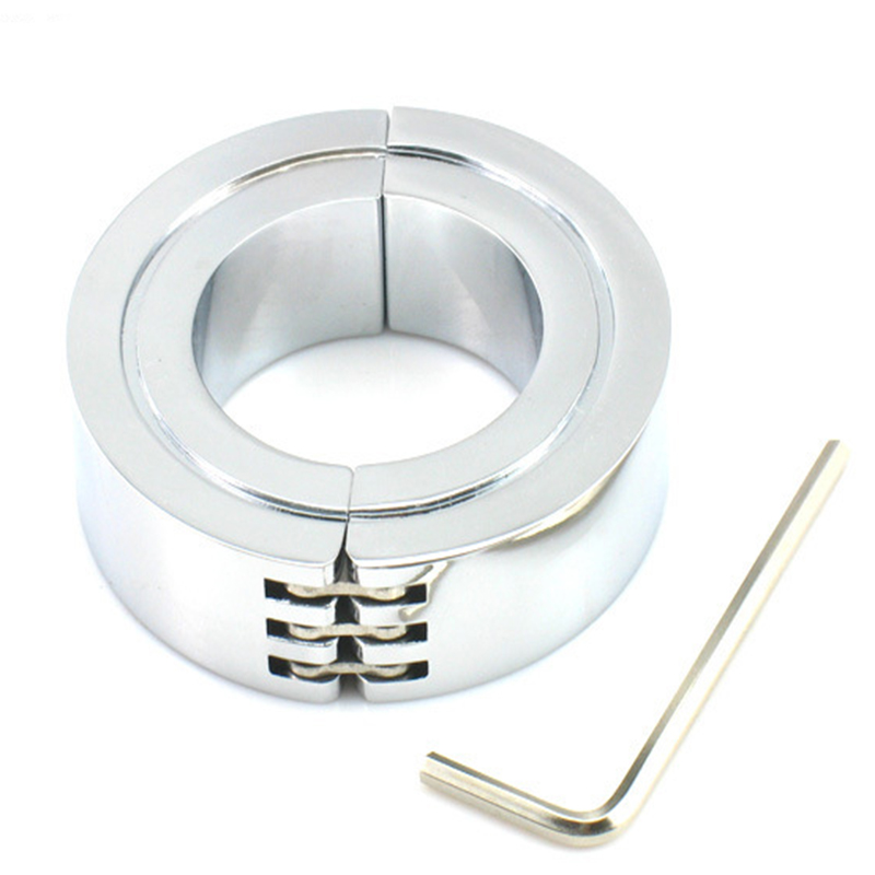 Male chastity device 304 stainless steel scrotum cock ring Inner diameter 38/44/50mm cockring adult sex toys for men wearable penis sleeve extender reusable condoms sex shop cockring penis ring cock ring adult sex toys for men for couple