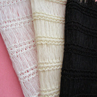 90cm*150cm French casual Braided Knitted Mesh Fabric Classic fringe Handmade Patchwork Clothes Sewing Gifts