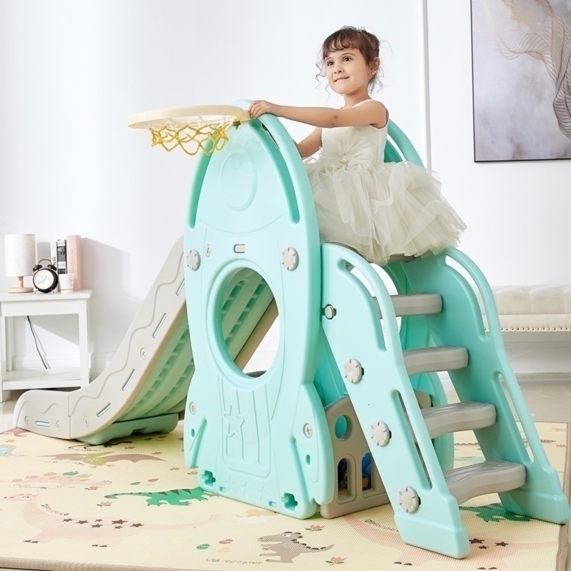 Children Indoor Eco-friendly Plastic Slider Home Kindergarten Slippery Slide Combination Slide Swing Stable Birthday Gift stable