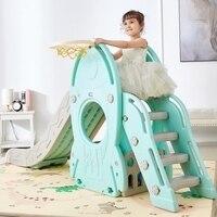Children Indoor Eco friendly Plastic Slider Home Kindergarten Slippery Slide Combination Slide Swing Stable Birthday Gift