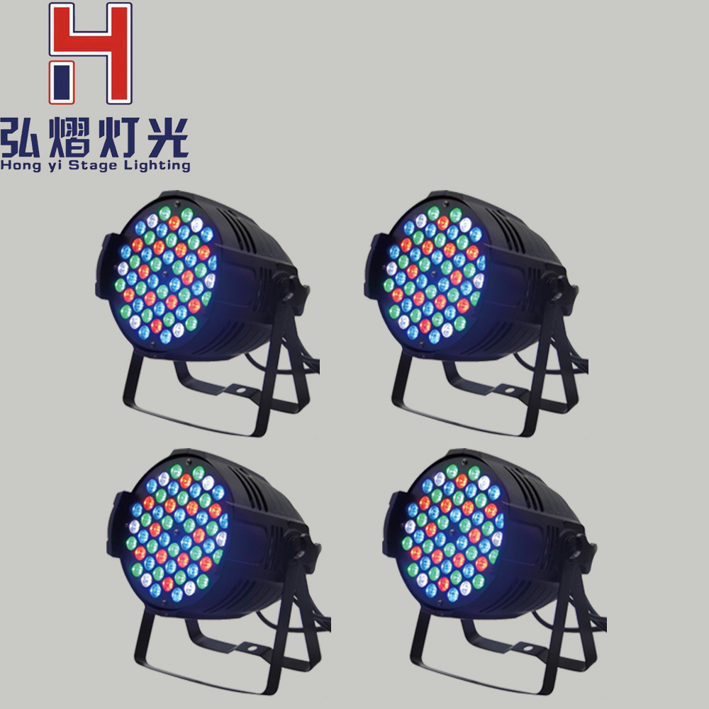 minimum 4xLot 54x3W RGBW Led Par Light DMX dj disco bar Projector stage light Large concert Dyeing effect lighting 4xlot free shipping led par can 54x3w rgbw led par light strobe dmx controller for dj disco bar strobe dimming effect projector