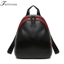 T6#  Fashion Women Backpack High Quality PU Leather Mochila Escolar School Bags For Teenagers Girls Top-handle Backpacks Travel