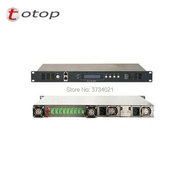 Amplificador EDFA óptico CATV con gestión Web 1550nm dopada de erbio amplificador óptico SC APC fibra interfaz