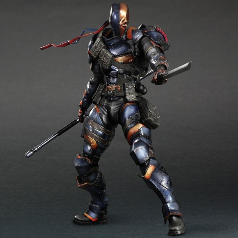 10 DEATHSTROKE Action Figures BATMAN ARKHAM ORIGINS DC Comics PLAY ARTS KAI Deadpool PVC Toys Square-enix