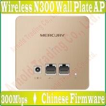 Mercury 2,4 ГГц 300 м в стену AP для проект WiFi Крытый AP, N300 Wi-Fi 9VDC/0.6A Питание, тел./IPTV Порты и разъёмы* 1, 100 м RJ45 Порты и разъёмы* 1