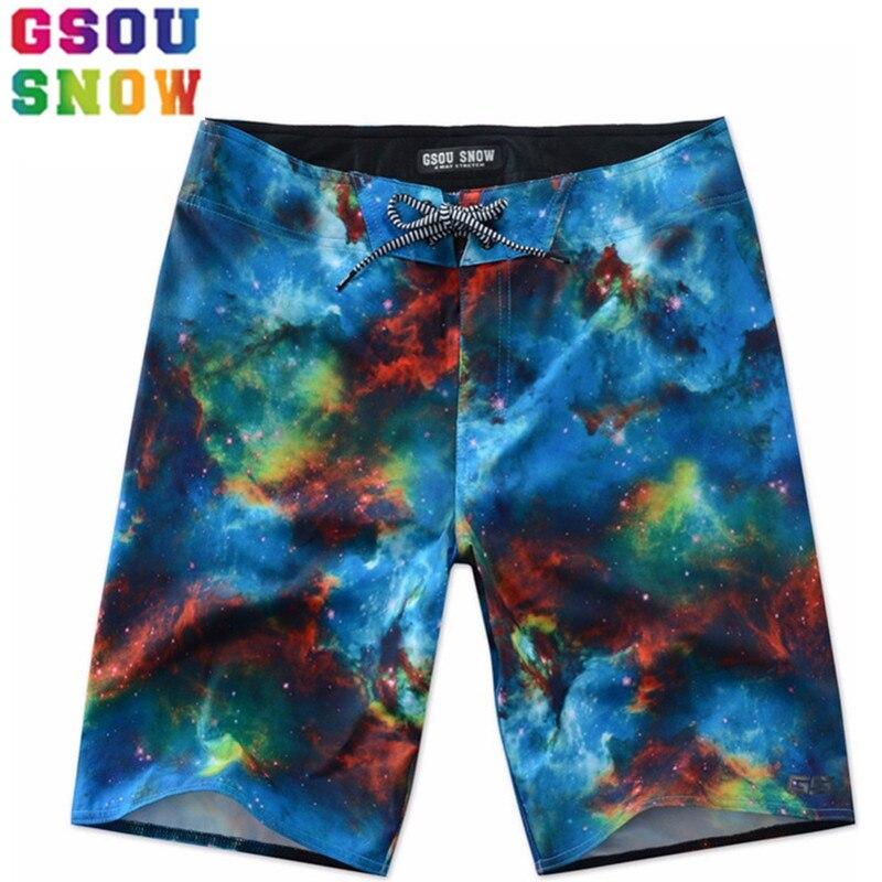 GSOU SNOW Brand Beach   Board     Shorts   Men Surf   Shorts   Swimwear Summer Swim   Shorts   Plus Size Printed Bermuda Surfing Swimming Trunks
