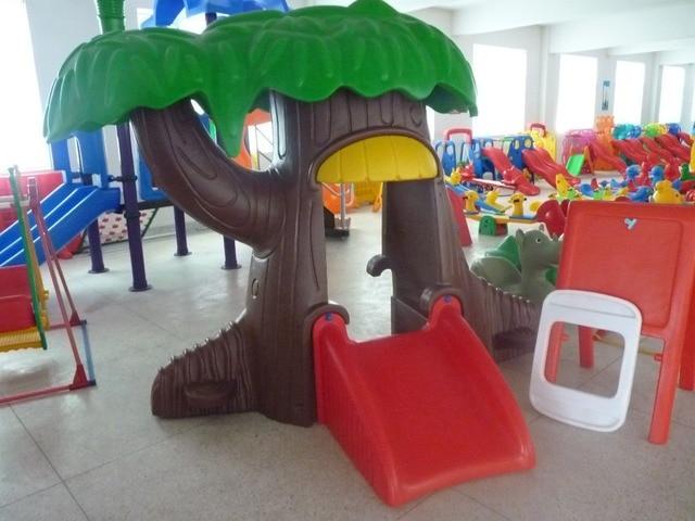 Baby plastic slide indoor playground kids plastic playhouse ...