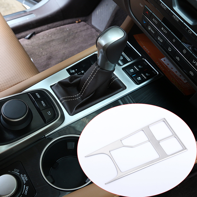 Silver ABS Chrome Car Interior Shifting Panel Sequin Cover Trim For <font><b>Lexus</b></font> <font><b>RX200t</b></font> 450h 2016 Car <font><b>Accessories</b></font> image