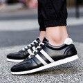 Nuevos 2016 Hombres Zapatos Casuales de Primavera Otoño Mens Trainers Pisos Transpirables Zapatos Para Caminar Zapatillas Hombre Zapatos Para Caminar Zapatos Masculinos