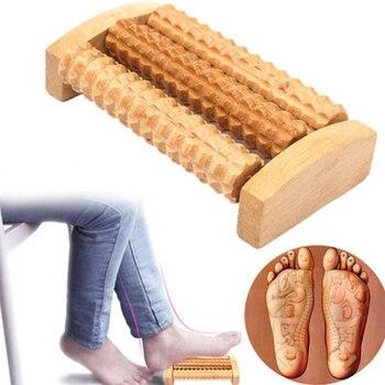 Rouleau de massage plantaire en bois
