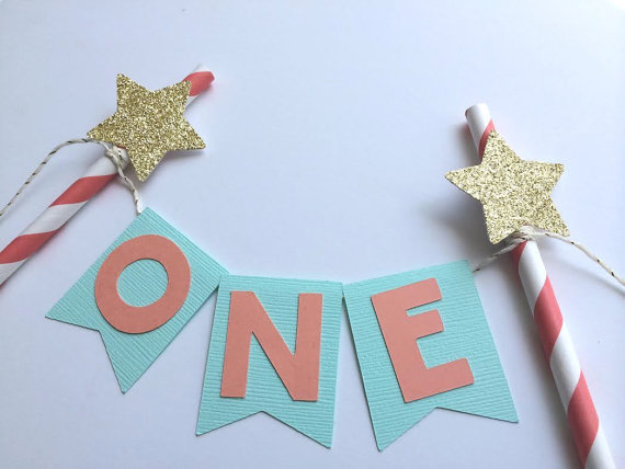 Stars Glitter Custom Number Cake Bunting Banner 1st Birthday Decor Princess Party Baby Shower In Banners Streamers Confetti From