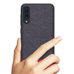Image 5 - KEYSION Phone Case for Samsung Galaxy A50 A30 A70 Luxury Colors Splice PU Leather Cloth TPU Black Cover for Samsung S10 Plus