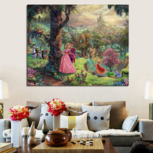 Thomas Kinkade Sleeping Beauty Puzzle Canvas Posters Prints Wall Art Painting Decorative Picture Nursery Modern Home Decoration