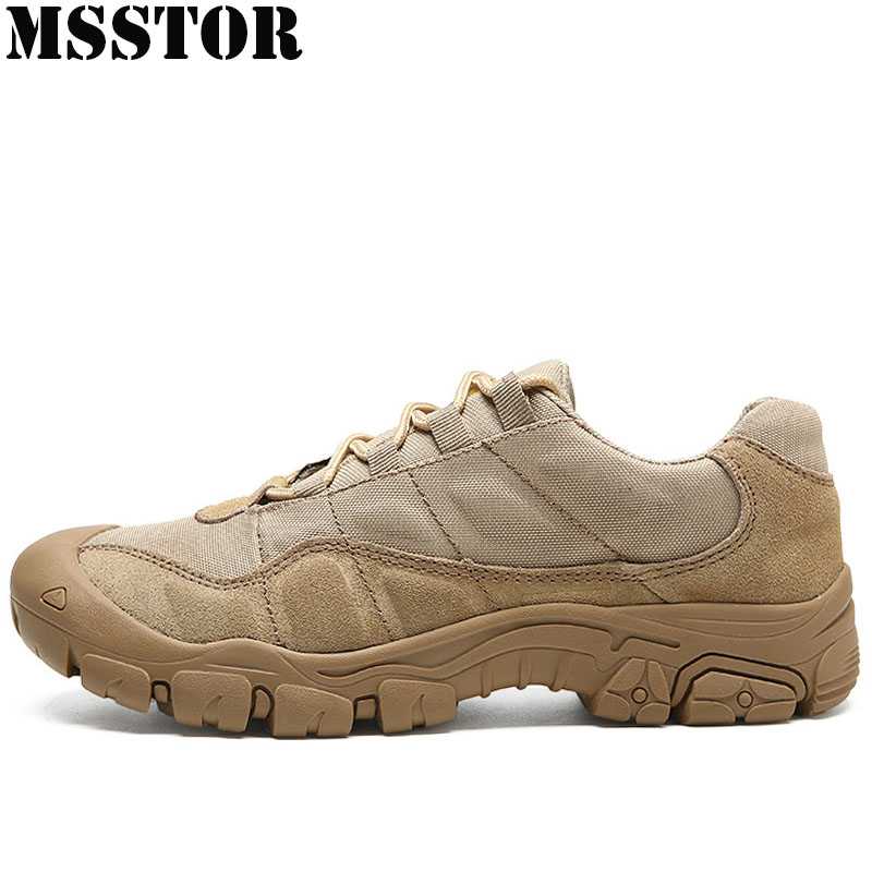 MSSTOR Men Hiking Shoes Man Brand Waterproof Cloth Tactical Boots Outdoor Athletic Hunting Trekking Camping Sport Shoes Sneakers