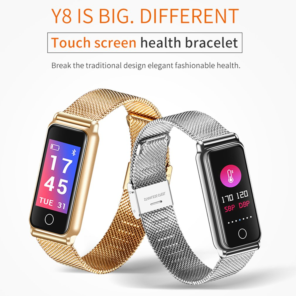 Y8 Bluetooth Full Metal Color Screen Smartwatch Heart