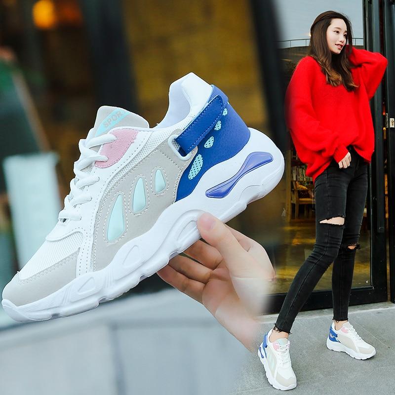 Aime Grande Sneakers Noir Femmes Mesh Air gris forme Taille 2018 Sort Nouveau bleu Marche Casual Lacets De Plate Respirant Couleur Chaussures gxaUqZaw