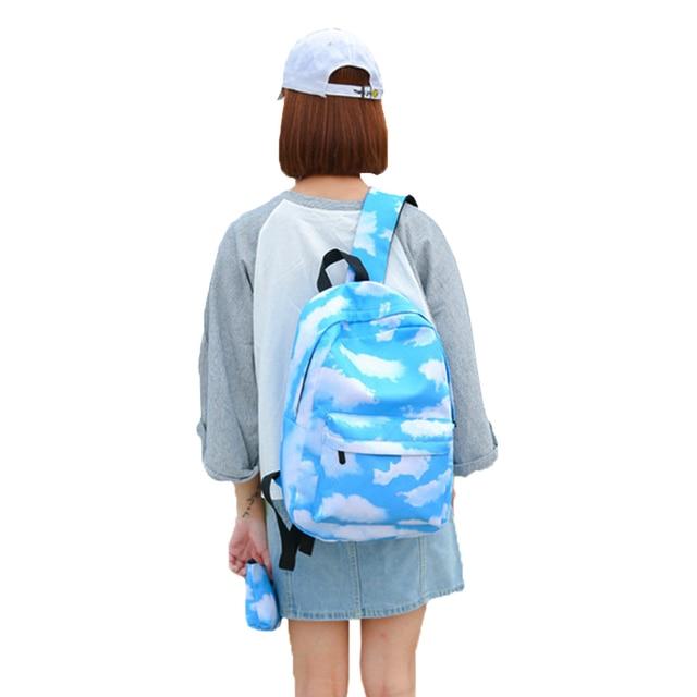 b419e22e2f8 Women Cat Unicorn Backpack Unicornio 3D Printing Backpacks Bookbag School  bag For Teenage Girls Canvas Oxford