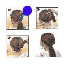 Plastic Magic Easy Topsy Hair Tail Braid Ponytail Styling Maker Clip Tool Black