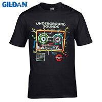 GILDAN 100 Cotton O Neck Short Sleeve T Shirt Urban Mixtape Cassette Tape Subway Map DJ
