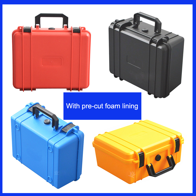 Tool case toolbox Electronic instrument case Small collection kit. Plastic hand-held camera case with pre-cut foam shipping free