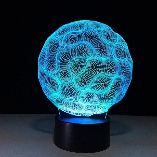 Novelty Luminaria 3d Led Lamp Lampe De Chevet De Chambre Led 3d