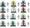 Mini Ninjagoes figuras porción 12 Unids Jay Kai Lloyd Cole Zane Maestro Wu Slithraa General Kozu Garmadon Niños Juguete lepin Compatible