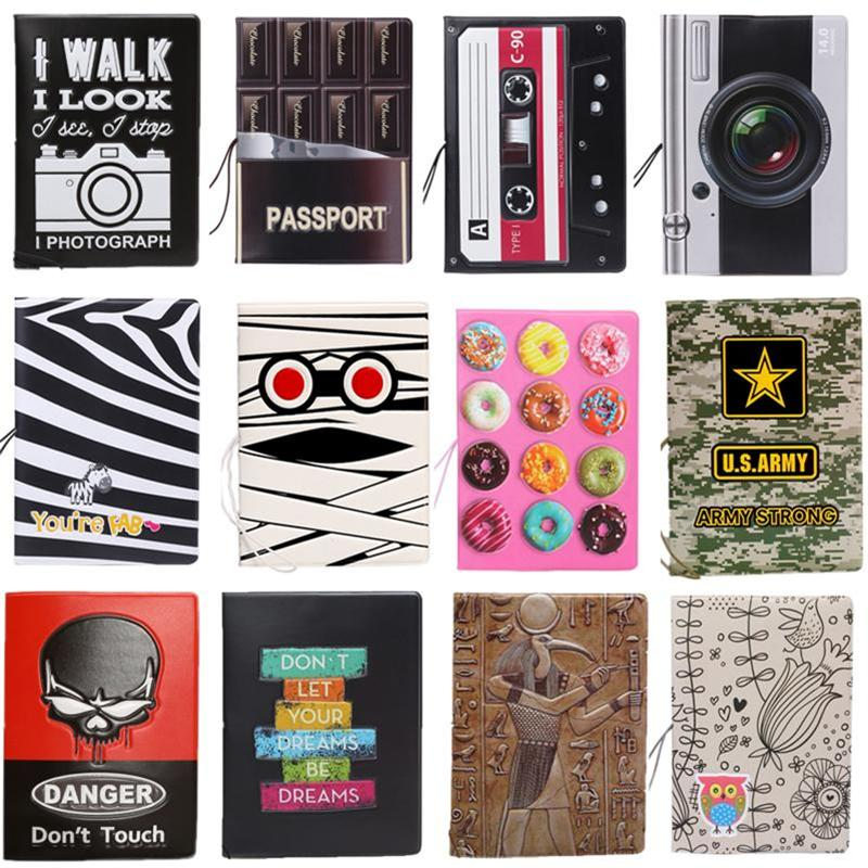 2018 New Cartoon Passport Holders, Men Travel Passport Cover PVC Leather 3D Design With 22 Different Styles For Choose ForTravel