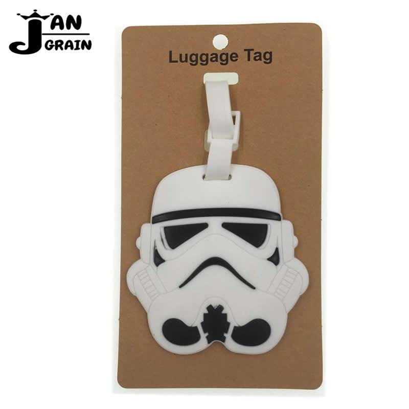Cute Cartoon Star Wars Luggage Tag Silica Gel Portable Label Suitcase ID Address Holder Baggage Boarding Tag Travel Accessories цена 2017