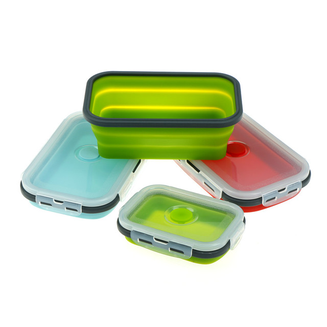 50500800ml Silicone Lunch Box Collapsible Food Container Bpa Free