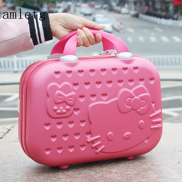 3532ec9e76 Neceser Hello Kitty Ms. Cosmetic Case   Business Travel Makeup Bag Suitcase    Girl Cartoon Suitcase   Student Carrying Suitcase