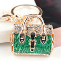Hot Novelty Item Creative Women Jewelry Enamel Leopard Handbag Keyrings Shoulder Bags Keychains Charm Key Fob Free Shipping