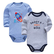 2 pcs set Tender Babies 2019Newborn Baby Boys Girls Fashion Clothes Cotton Long Sleeve Bodysuit baby clothing