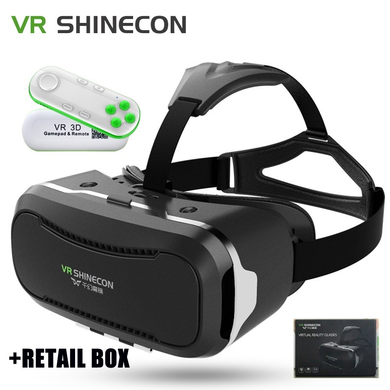 <font><b>VR</b></font> <font><b>SHINECON</b></font> II 2 <font><b>Virtual</b></font> <font><b>Reality</b></font> Headset 3D <font><b>IMAX</b></font> <font><b>Video</b></font> Glasses Radiation Protection for Movies Games 4.7 - 6 inch Mobile Phones