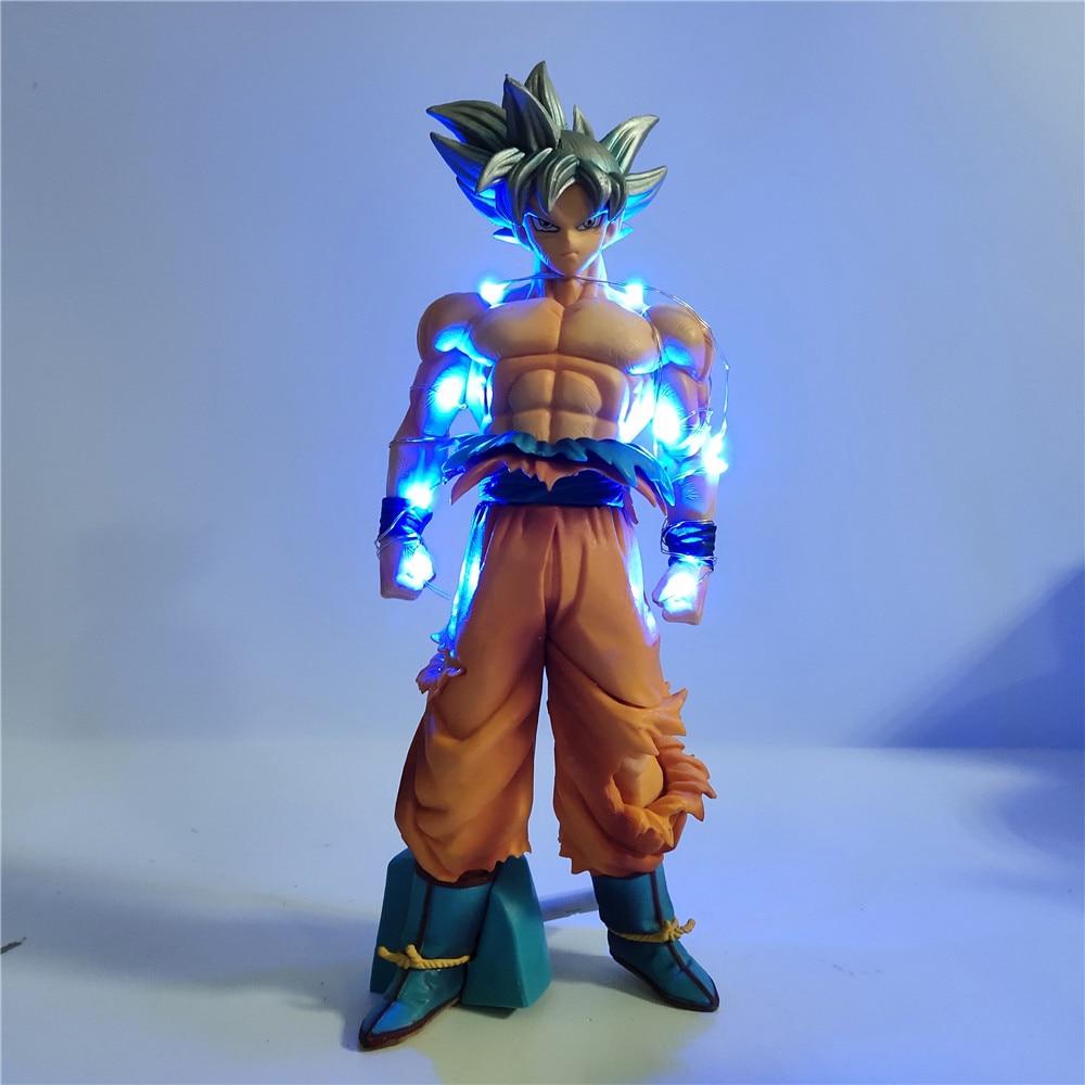 Dragon Ball Super Ultra Instinct Goku DIY Night Light PVC Action Figures Dragon Ball Z Son Goku Key Of Egoism Collect Model Toy