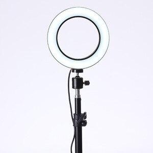 Image 5 - Baolyda LED Ring Light Selfie 16/26 cm Anel de Luz de Estúdio de Maquiagem com Iluminação Regulável & Cabeça Berço para maquiagem Estúdio de Vídeo Ao Vivo