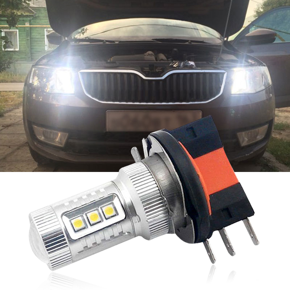 buy 1 piece h15 led bulbs for vw tiguan golf high beam led daytime running. Black Bedroom Furniture Sets. Home Design Ideas