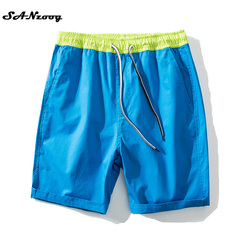 Plus size 4xl 100 cotton beach men shorts drawstring elastic waist solid 2017 new summer casual.jpg 250x250