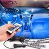 Car RGBW 4pcs LED Strip Light LED Ambient Lights 16 Colors Car Styling Atmosphere Lamps Car